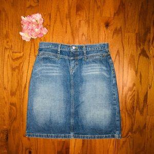 Ralph Lauren Racer Knee Blue Jean Skirt🌹